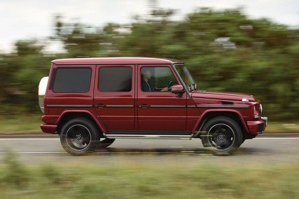 Mercedes-Benz G-Wagon on the road