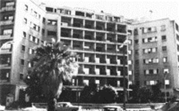 The U.S Embassy in Beirut on October 23, 1983 before the tragic car bomb attack