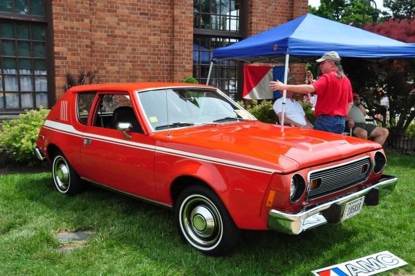 A red AMC gremlin car