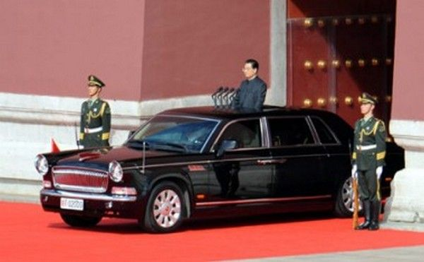 Honqui HQE limo of Chinese president