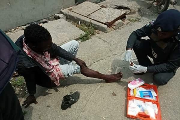 Lagos police treating the victim