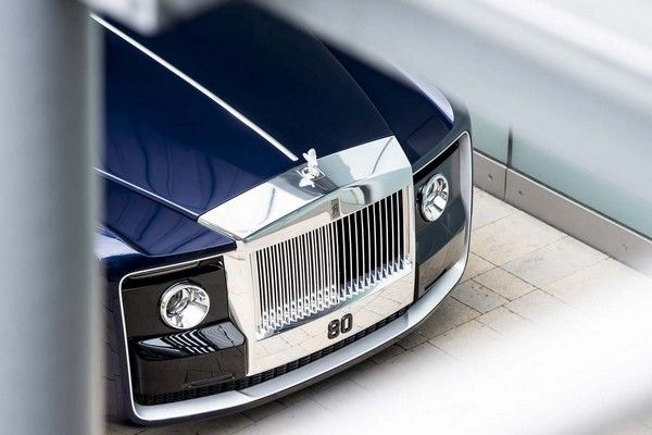 fascia of Rolls Royce Sweptail - the most expensive car in the world