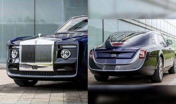 the most expensive car in the world - Rolls Royce Sweptail angular front and rear