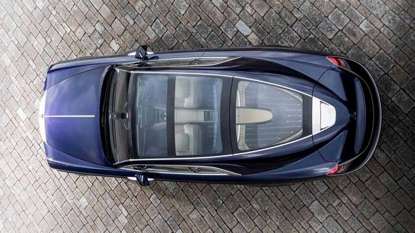 the most expensive car in the world - Rolls Royce Sweptail from above