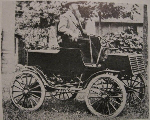 Wisner on his Buzz Wagon car