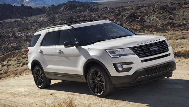 Ford Explorer on the road