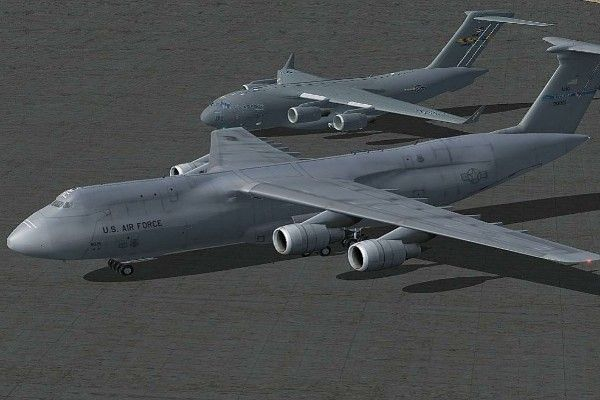 C5 Galaxy aircraft and Air Force One