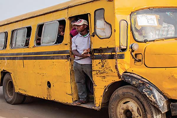 Danfo bus on Lagos streets
