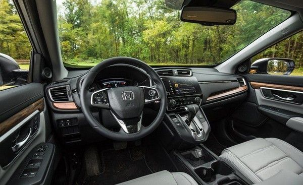 the interior of a CRV