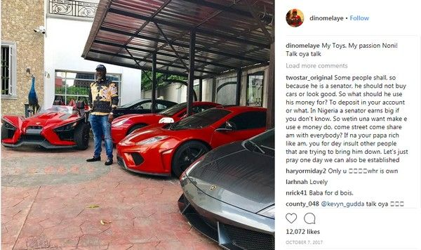 Dino's post about his cars