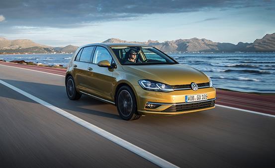 The Volkswagen Golf angular front