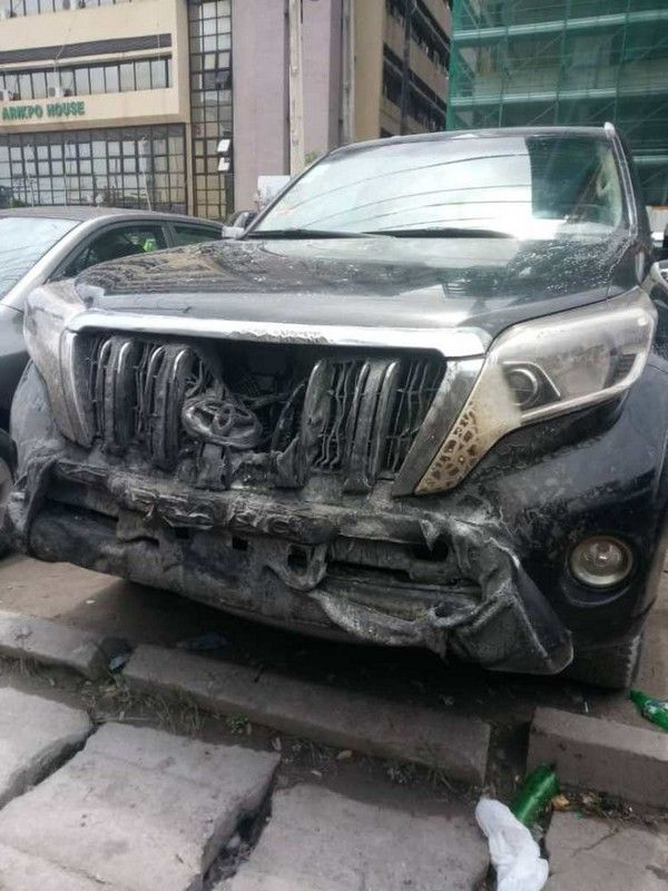the car saved from the inferno