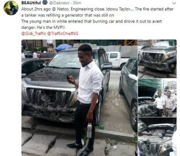 Post on young man's brave act