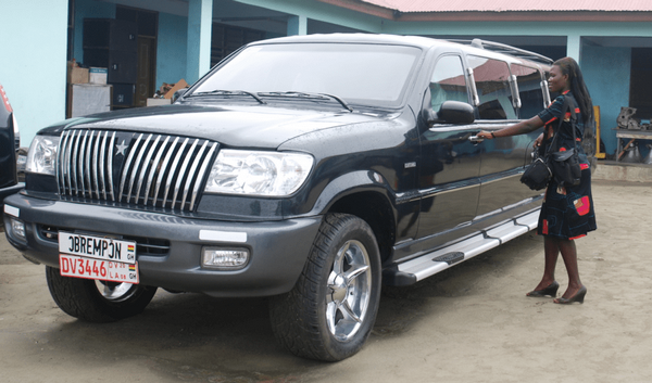 A women getting into a Kantanka car