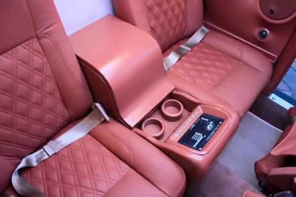 rear seats of the Volkswagen Beetle remake version