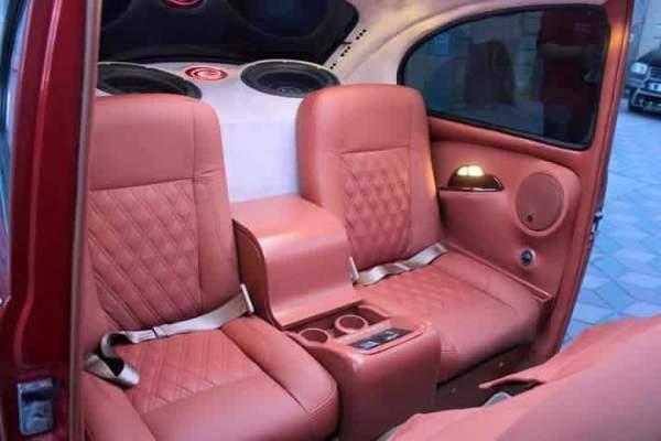 interior of the Volkswagen Beetle remake version