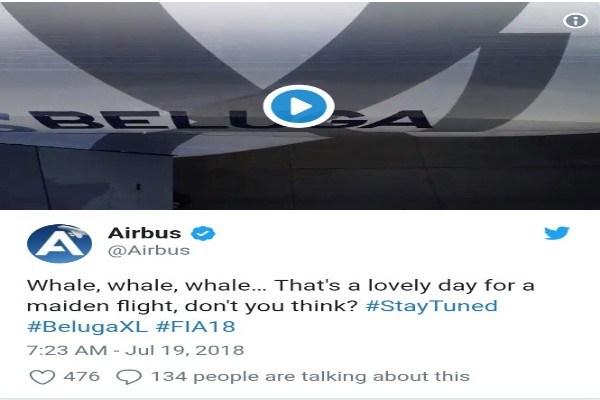 Airbus tweets