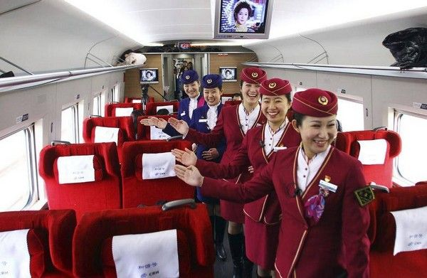 inside Chinese bullet train