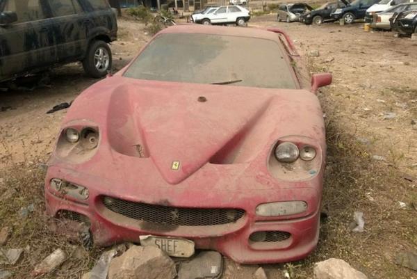 Abandoned Ferrari F50 in Abadan