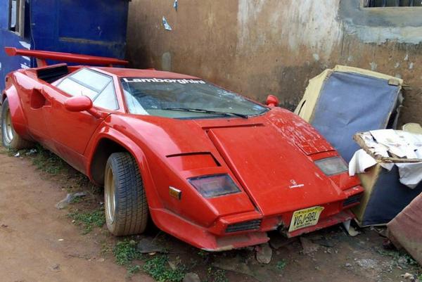 Abandoned Lamborghini Countach in Lagos