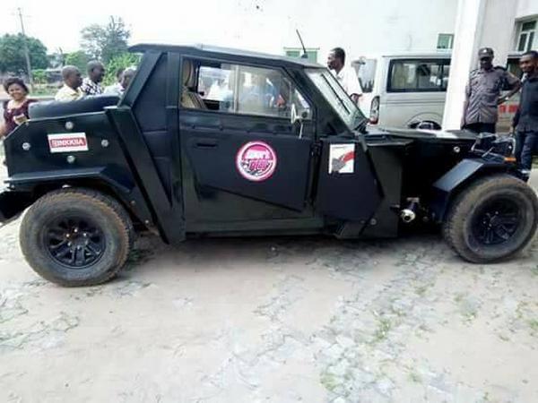 Vehicle of Nigerian engineer Ephraim