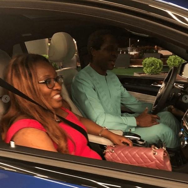 Tonye and wife in car