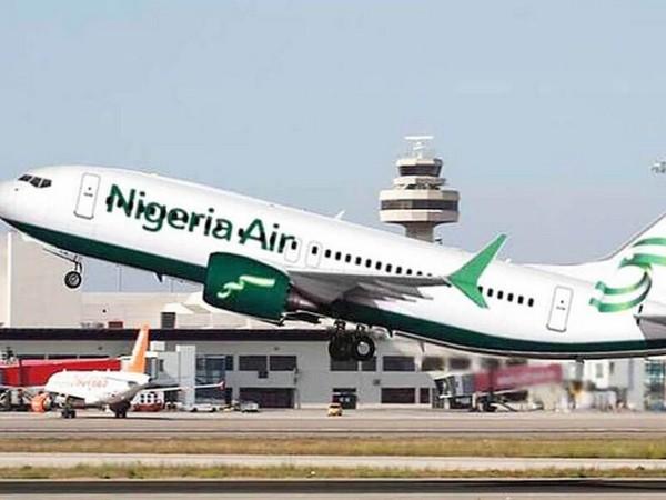 A Nigeria Air plane taking off