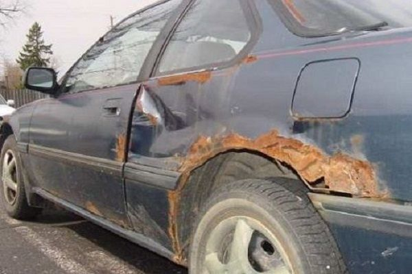 A car with rust