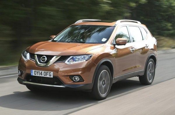 Nissan X-Trail on the road