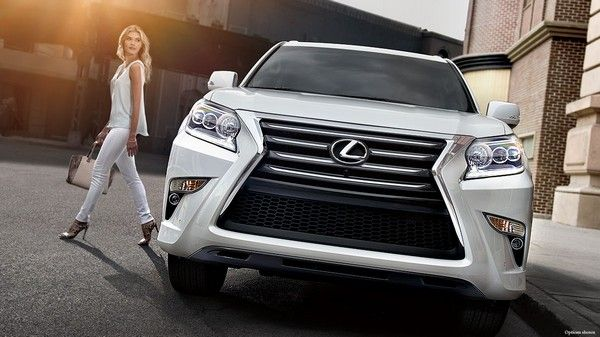 Lexus-GX460-front-look-and-a-woman