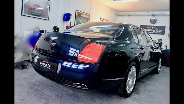 angular rear of a Bentley