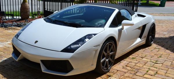 angular font of a Lamborghini