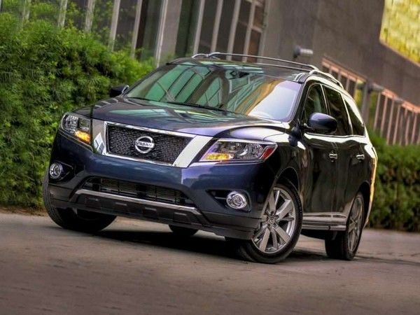 Nissan Pathfinder on road