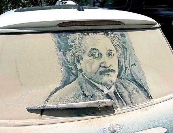 dirty car art of people