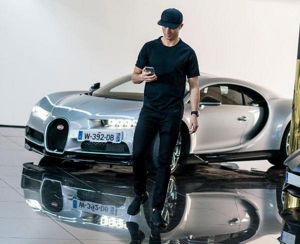Ronaldo's Personalised CR7 Bugatti Chiron