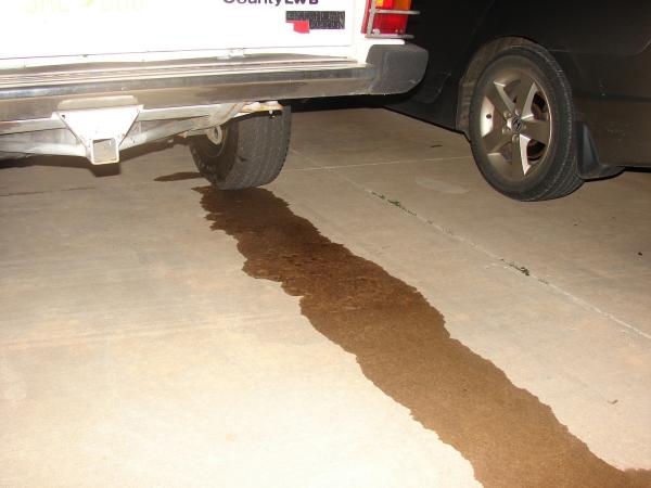 a brake fluid leak
