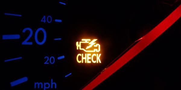 a check engine light
