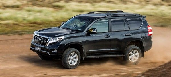 Toyota Land Cruiser Prado performing on road