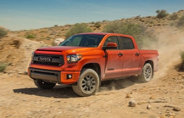 Toyota Tundra in off-road trip