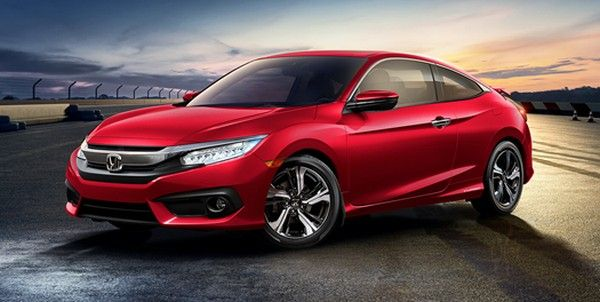 Red Honda car design