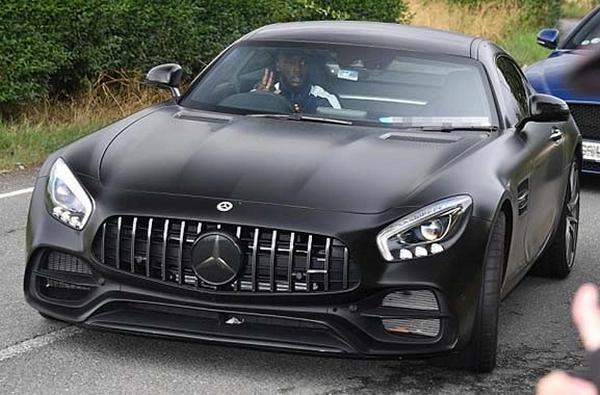 Romelu Lukaku spotted in his Mercedes-Benz AMG GT in Carrington
