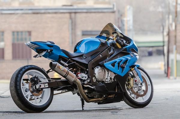 a BMW power bike