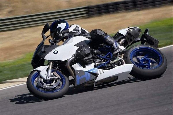 a power bike leaning towards ground