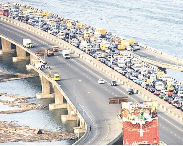 Traffic jam in the Third Mainland Bridge