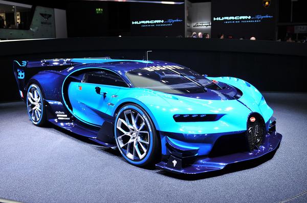 angular front of the Bugatti Divo being displayed