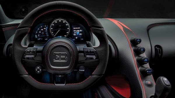 interior of the Bugatti Divo