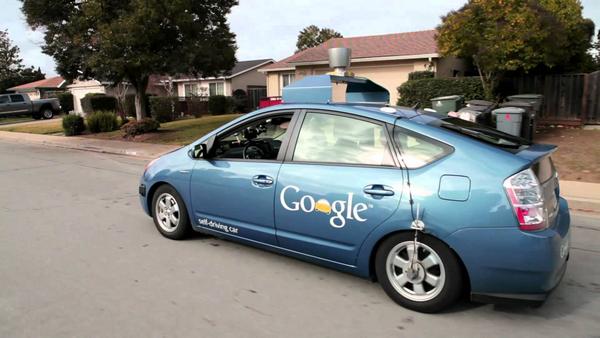 Angular rear of the Toyota Prius Google testing