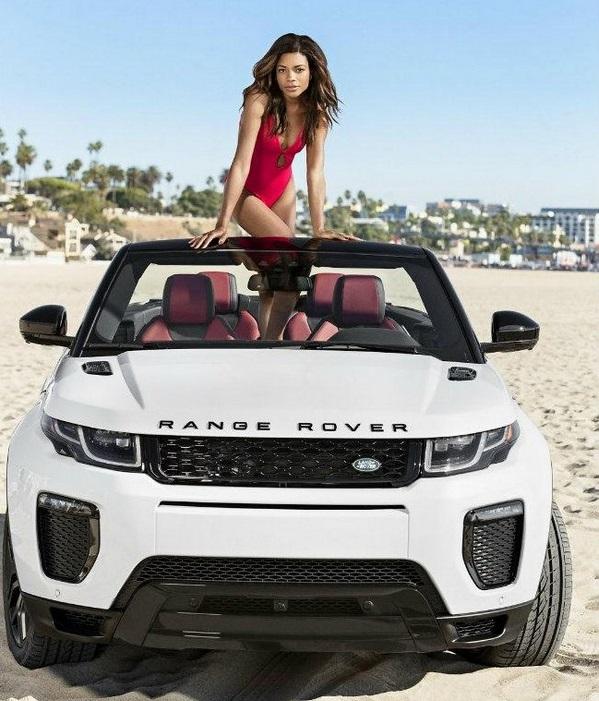 Black girl on Range Rover Evoque