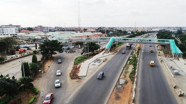 Pedestrian Bridge in the capital of Nigeria