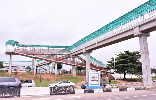 Pedestrian Bridge being built in Lagos State, Nigeria